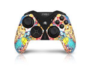 Wireless Controller for Nintendo Switch, STOGA Game Controller for Switch Lite Interchangeable Cross Button and Left 3D, DIY Replaceable Skin Shell, Macro (Graffiti)