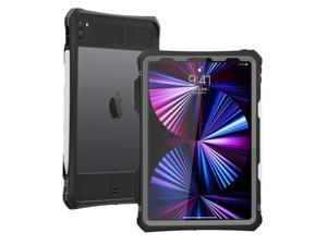 ShellBox Case for iPad Pro 11 Inch 2020/2021,Full-Body Protective Case,Magnetic Pencil Holder,External Keyboard Interface,IP68 Waterproof Dustproof Shockproof iPad Pro 11 Inch Case (Black)