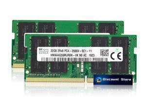 HYNIX 64GB(2X32GB) 2Rx8 PC4-2666V SODIMM DDR4-21300 RAM LAPTOP MEMORY PIN-260 1.2V HMAA4GS6MJR8N-VK