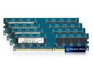 16GB(4X4GB) Hynix DDR2 Ram spots 800MHz PC2-6400U DIMM 240-pin. CL6 HMP351U6AFR8C-S6 2Rx8 Desktop Memory