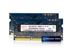 SK Hynix 4GB(2X2GB) PC3-10600 SO-DIMM 1RX8 DDR3-1333 MHz Laptop Memory HMT325S6BFR8C-H9 Pin-204 CL9