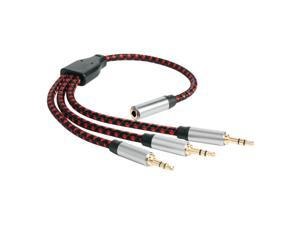 Hot-Headphone o Splitter Cable 3.5mm Female to 3 Male AUX Extension Cord Aux o Cable for Headset iPhone Tablet