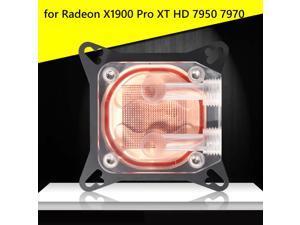 Tarjeta gráfica enfriadora de líquido, bloque de agua para Odeon X1900 Pro XT HD 7950 7970 Geforce 9600GT 8600GTS 7800GTX 7800GT 6800GT 6600GT 600gt