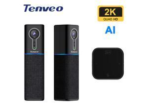 Tenveo Smart Conference Room Camera 2K 60fps AI-Powered Auto Framing & Autofocus Face Recognition and Tracking Made for Huddle Rooms (Tevo-CM1000)