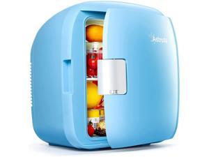 AstroAI Mini Fridge, 9 Liter/12 Can Compact Refrigerators AC/DC Skincare Fridge Portable Thermoelectric Cooler and Warmer for Skincare, Foods, Bedroom, Mother's Day Gift Blue