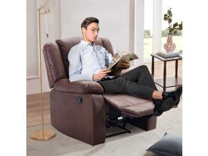 MEROUS PU Leather Heated Massage Recliner Sofa Ergonomic Lounge with 8 Vibration Points