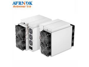 New Bitmain Antminer T19 84TH/s BTC miner 3150W 37.5 J/TH (with Power supply) GPU RJ45 Ethernet 10/100M ASIC Mining machine better than ANTMINER L3+ S9 S9i