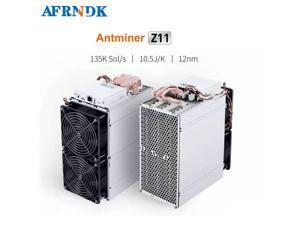 Bitmain Antminer Z11 135k ZEC 1418W 135 KSol/s 10.50 J/KSol Ethernet Bitcoin Mining Machine(With 12 Power Supply) ASIC Better than L3+ S9Miner