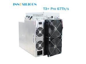 Innosilicon T3+ Pro 67Th/s BTC miner 3300W SHA-256 bitcoin mining machine Asic miner Better than T3+ replace antminer S17 S17+ S17 pro