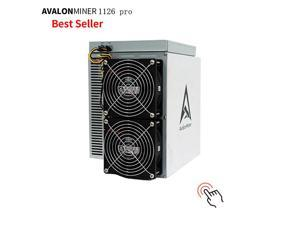 BTC Miner Avalon 1126 PRO 60Th/s 57J Bitcoin Crypto Mining Machine Avalonminer 1126 PRO High Performance ASIC BTC BCH Miner with power supply better than 1066