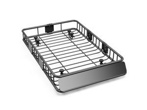 """Oarlike 64"""" Cargo Basket Universal Roof Rack w/250lb Capacity Car Top Luggage Holder for SUV Cars Cargo Storage Carrier Basket with Wind Fairing for Camping"""