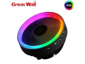 Great Wall GW-Dazzling X120 Pro CPU Cooler RGB 120mm CPU Cooling Fan Computer Heatsink 12V LED Radiator for PC Intel LGA 1151 AMD AM4 AM3 FM2