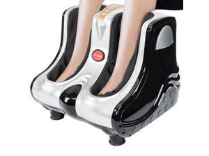 US Stock Smart Kneading Rolling Vibration Shiatsu Foot Calf Leg Massager 110V US Plug Gray