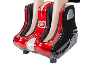 Smart Kneading Rolling Vibration Shiatsu Foot Calf Leg Massager 110V US Plug Red