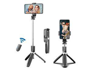 Phone Selfie Stick Tripod Stand with Wireless Remote Control & 360°Rotation, Portable, Lightweight, Compatible  IPhone cell phone, Android cell phone, Gopro, Small Camera More