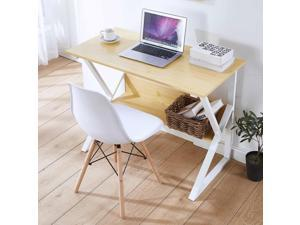 Computer Desk PC Laptop Table with Storage Rack Study Workstation Office Home Furniture with shelf