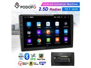 Android 9.1 Double Din GPS Car Stereo Radio 10.1'' HD 1080P 2.5D Tempered Glass Mirror Car MP5 Player with BT WIFI GPS FM Radio Receiver Suppport Rear Camera