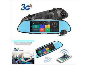 "UNIVERSAL Car Rear View Mirror DVR WiFi GPS 7"" 1080P Screen Dual Lens G-sensor"