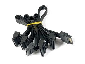 15Pin SATA Power Supply Splitter Cable Hard Drive 1 Male to 5 Female Extension Power Cord for DIY PC Sever Wire