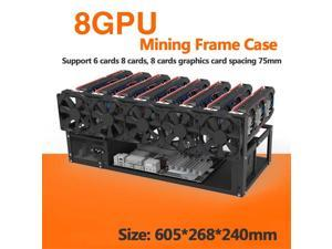 Open Air Mining Rig Frame Case For 6/8 GPU ETH BTC Ethereum Computer Crypto Coin