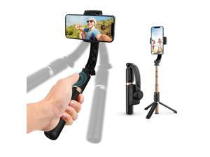Gimbal Stabilizer with Selfie Stick for iPhone Portable Handheld Gimble with Tripod & Remote for Cell Phone Camera & Samsung Android Smartphone Recording Video & Vlogging on Tiktok & YouTube
