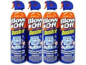 Blow Off Non-Toxic 8oz Compressed Air Duster Can Stop The Build-up of Dust in Your Electronics, Clogging up The Cooling Fan. Pack of 4