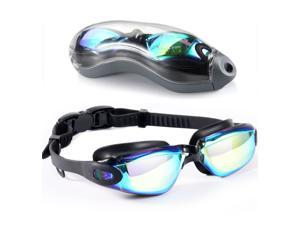 [Upgrade] Swim Goggles, Diving Goggles,Waterproof No Leaking Anti Fog Adult Men Women Youth Swimming Glasses.Snap on Design,Anti ultraviolet