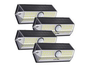 LITOM 4 Pack Solar Lights Outdoor, LITOM Upgraded Solar Motion Sensor Light with 4 Lighting Modes IP67 Waterproof Rating Durable Security Lights for Yard, Garden, Patio 4 pack
