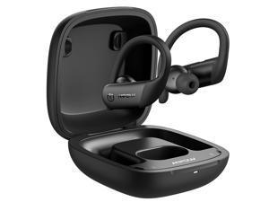 Mpow Flame Lite in Ear Wireless Earbuds Sport, Bass+ IPX7 Waterproof Sport Bluetooth Earphones, Ear Hook, BT5.0, Touch Control, Mono Twin Mode, 30H Playtime, USB-C Charging Case, Built-in Mics, Black