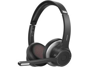 Mpow HC5 Bluetooth 5.0 Headset, Wireless Wired 2 in 1, 22h Battery Life, CVC 8.0 Noise Cancelling Mic, Lasting Comfort For Call Center Driver Office