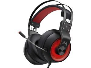 Mpow EG3 Pro Gaming Headphones, 3.5mm Jax & USB Cable, Support Volume/Noise-cancelling Mic Control, over-ear thickened memory foam, 50mm Driver