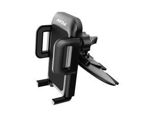 MPOW CA051B Car Phone Mount with CD Slot , Car Holdert with Three-Side Grips , Adjustable ,One-Touch Design,Wide Compatible