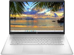 "New HP 17.3"" FHD  AMD Ryzen 5 5500U 32GB RAM 512GB SSD Silver Fingerprint reader Windows 10 Pro"