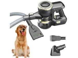 Upgrade US Patent Vacuum Cleaner with Dog Cat Grooming Shedding Brush Comb, Unique Pet Hair Fur Remover Tools Best 4 in 1 Multipurpose Cordless Handheld Removal for Couch Furniture Carpet Car