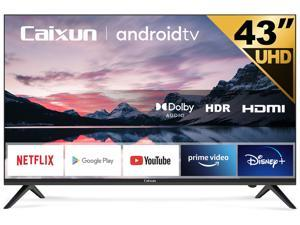 Caixun EC43S1A 43 inch 4K UHD HDR Smart TV with Google Assistant, Chromecast Built-in, Screen Share, HDMI, USB