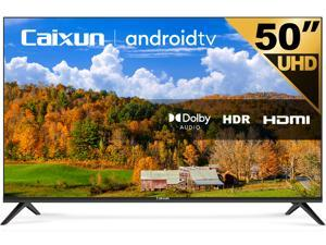 Caixun EC50S1A 50 inch 4K UHD HDR Smart TV with Google Assistant, Chromecast Built-in, Screen Share, HDMI, USB
