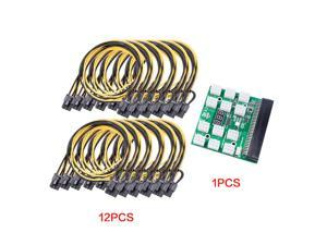 6 Pin to 8 (6+2) Pin PCIE Adapter GPU Power Breakout Board Cable (12pcs)