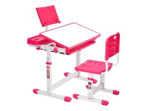 Student desks, children's desks with chairs, table and chair packages can be adjusted in height, and the table top can be tilted