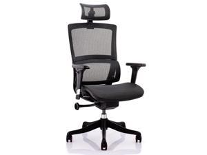 OFFBEAUPS Ergonomic Office Chair Home Office Desk Chair High Back Mesh Computer Gaming Chairs Height Adjustable Rolling Swivel Computer Chair,Adjustable Lifting Headrest with Armrest,Black