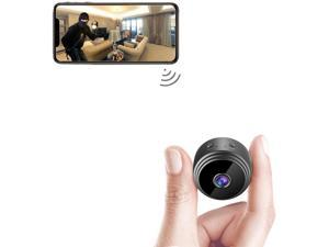 Spy Camera Wireless Hidden WiFi Mini Camera HD 1080P Portable Home Security Cameras Covert Nanny Cam Small Indoor Outdoor Video Recorder Motion Activated Night Vision A10 Plus [2021 Version]