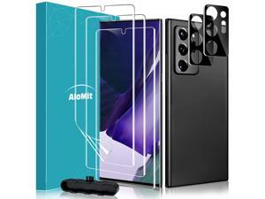 AloMit [5 Pack] Screen Protector for Galaxy Note 20 Ultra 5G [3 Pack], Camera Lens Glass Screen Protector[2 Pack], Fingerprint Sensor Support Anti-Scratch TPU Screen Protector for Galaxy Note 20 Ultra