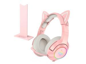 ONIKUMA K9 gaming headset girl headset computer stereo with microphone and LED light for laptop/PS4/Xbox One