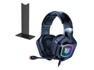 ONIKUMA-X8 gaming headset, subwoofer headset and 360-degree microphone, LED, suitable for PC, laptop and PS4