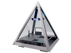 AZZA PYRAMID L - All sides tempered glass ATX Mid Tower Gaming Computer Case - Front I/O USB Type-C Port - 1x 120 mm AZZA Hurricane III ARGB Fan included.