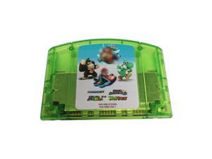 4 IN 1 Mario kart/Super mario 64/Super Smash Bros/Yoshi's Story- Nintendo 64 Video Game Cartridge for N64 Console