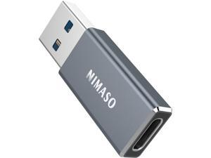 USB C to USB 3.0 Adapter, Nimaso USB C Female to USB Male Adapter, USB C 3.1 Gen 1 Adapter 5Gbps Compatible with iPhone 11 12 Pro Max, iPad 2020, Samsung Galaxy S21 S21+ S21 Ultra Note 10 -BLACK