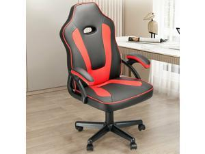 Solfway Gaming Chair, Racing Office Chair with Reclining High Back, Leather Ergonomic Computer Desk Chair Height Adjustment, PC Video Gamer Chair (Red)