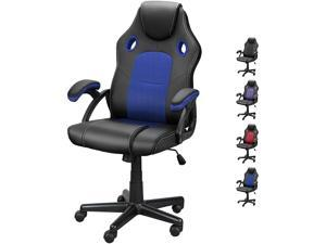 DualThunder Gaming Chairs, Home Office Desk Chairs Clearance, Comfortable Cheap Gaming Office Chairs, Computer Chairs Video Game Chairs, Gaming Chairs for Teens Gamer, Swivel Rolling Chairs, Blue