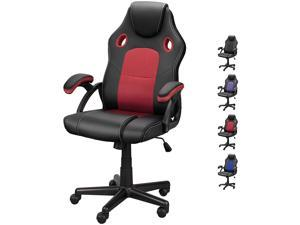 DualThunder Gaming Chairs, Home Office Desk Chairs Clearance, Comfortable Cheap Gaming Office Chairs, Computer Chairs Video Game Chairs, Gaming Chairs for Teens Gamer, Swivel Rolling Chairs, Red