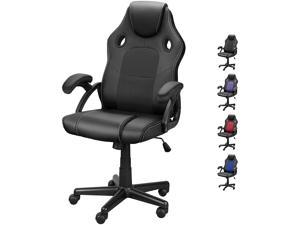 DualThunder Gaming Chairs, Home Office Desk Chairs Clearance, Comfortable Cheap Gaming Office Chairs, Computer Chairs Video Game Chairs, Gaming Chairs for Teens Gamer, Swivel Rolling Chairs, Black